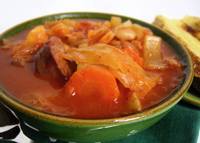 Hearty Cabbage and Kielbasa Stew