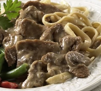 Bountiful Beef Stroganoff for Slow Cooker