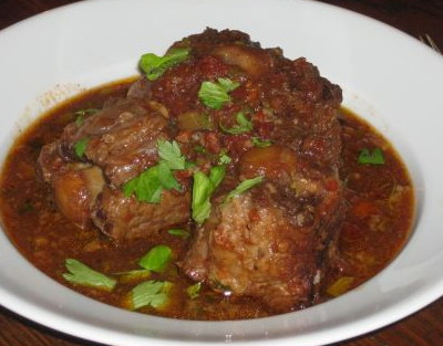 Braised Oxtail with Port